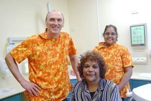 Volunteer-dentist-Dr-Steve-Chaffe-and-patient-in-Cairns